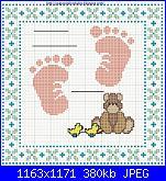 Вышивка крестиком схемы метрики новорожденных 331