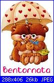 un saluto a tutte voi-bentornata-2-orsetti-sotto-ombrello-jpg