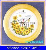 orologio con girasoli-reloj-girasoles-jpg