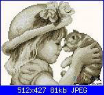 cerco schema primo bacio di due bimbi e bimba che bacia un gatto.-bb2431-jpg