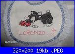 dalmata 101, gatto silvestro con la coccinella , orsetto sulla luna-bavaglino_silves-11-jpg