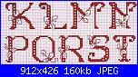 Iniziali: P e N - da ricamare sul cuscino porta fedi-alfa-classico-rosso-scuro-con-piccole-foglie-ogni-lettera-2-1-jpg