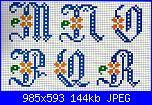 Iniziali: P e N - da ricamare sul cuscino porta fedi-alfa-blu-foiri-arancio-c-jpg