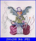 """Thimbelina The Needlework Fairy""/"" Purl/Pearl The Knitting Fairy"" di Lynne Nicoletti-purl%2520the%2520knit-jpg"