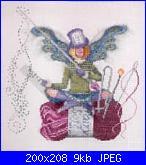 """Thimbelina The Needlework Fairy""/"" Purl/Pearl The Knitting Fairy"" di Lynne Nicoletti-purl%2520the%2520knit-jpg"