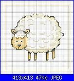 CERCO SCHEMA :chioccia con pulcini, pecore piccole e grandi-disegni-punto-croce-pecora-jpg