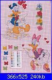 Schemi punto croce paperino e paperina-farfalline-x-bavaglino-m-ciuccio-jpg