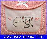 Questi sono i miei lavoretti... - pink-borsa-fasciatoio-rosa-con-gattina-bianca-jpg
