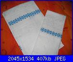 Alcuni dei miei ricami - luisangela85-asciugamani-azzurre-jpg