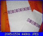Alcuni dei miei ricami - luisangela85-asciugamani-viola-jpg
