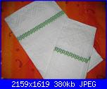Alcuni dei miei ricami - luisangela85-asciugamani-verdi-jpg