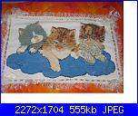 Alcuni dei miei ricami - luisangela85-cuscini-gattini-jpg