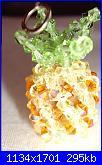 Pasta di mais, di sale ,perline, pittura su vetro..-ananas-jpg