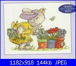"""Somebunny to love"" della DMC-collecting-flowers-bl587-51-jpg"