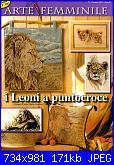 Arte femminile - I leoni a punto croce - gennaio 2005 *-arte-femminile-jpg