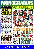 Trabalhos & graficos- Ponto cruz- monograms 23 alfabetos *-pag001-jpg