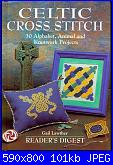 Celtic Cross Stitch - 30 Alphabets Animal and Knotwork Projects - Gail Lauther -1997*-book_obl-jpg