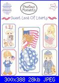Gloria & Pat Precious Moments n.61 - Sweet land of Liberty-copertina-pm-61-link-jpg