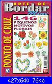 Arte de bordar mini nº 9 - 146 Pequenos motivos florais-00-capa-jpg