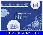 Mani di Fata I motivi più belli a punto croce 39 Punto croce in blu luglio 2011-immagine-jpg