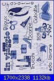 Mani di Fata I motivi più belli a punto croce 39 Punto croce in blu luglio 2011-immagine-32-jpg