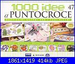 1000 idee a punto croce -  ED. FABBRI -  N. 47 -  gen 2012-cover-jpg
