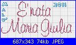 Gli schemi di Malù-e-nata-maria-giulia-font-muriel-jpg