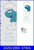 Gli schemi di pippiele-segnalibro-puffo-schema-jpg