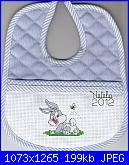 Gli schemi di Natalia - II-baby_bugs_bunny-bavaglino-jpg