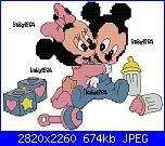 Gli schemi di Baby1264-minnie-e-topolino-baby_ricamati-jpg