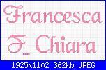 Gli schemi di sharon - 1-francesca-e-chiara-jpg