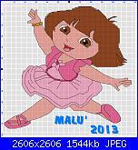Gli schemi di Malù 2°-dora-ballerina-schema-pc-stitch-jpg