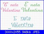 Gli schemi di sharon - 1-%C3%A8-nata-valentina-jpg