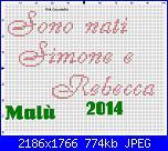 Gli schemi di Malù 2°-sono-nati-simone-e-rebecca-jpg