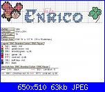 Gli schemi di Vale 22-nome-enrico-con-coccinella-schema-jpg