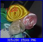 Roselline di  nastrino di raso-roselline-di-raso-png