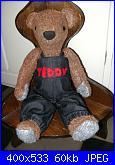 Cartamodelli e istruzioni per orsi di stoffa: Teddy Bear... il piacere di crearli.-teddy-vestito-jpg