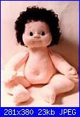 Come creare bambole di stoffa: corpo realistico, ombelico, sederino, mani e piedi.-baffy-1-jpg