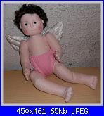 Rossella Usai:Bambola di stoffa scolpita ad ago: Angel baby-angel-baby-jpg