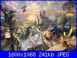 Beauty and the Beast Falling in Love - Thomas Kinkade-beauty%2520and%2520the%2520beast%2520falling%2520in%2520love-jpg