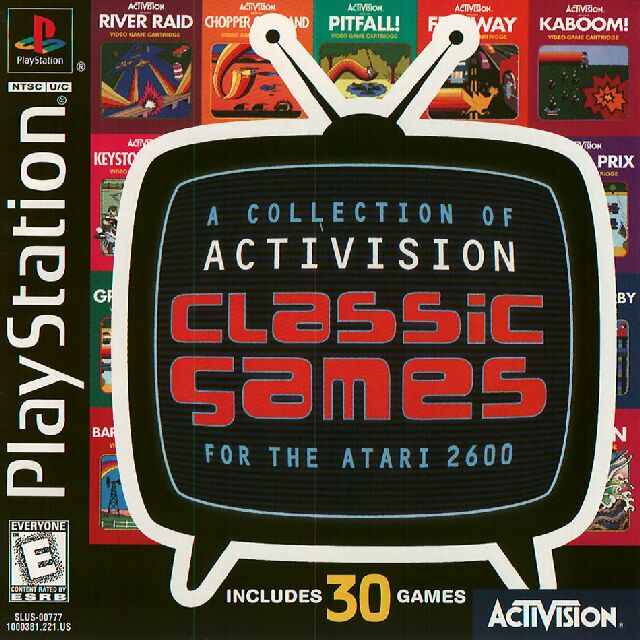 Activision Classic Games ntsc front Actvision Classic Games for the Atari 2600 | PS1