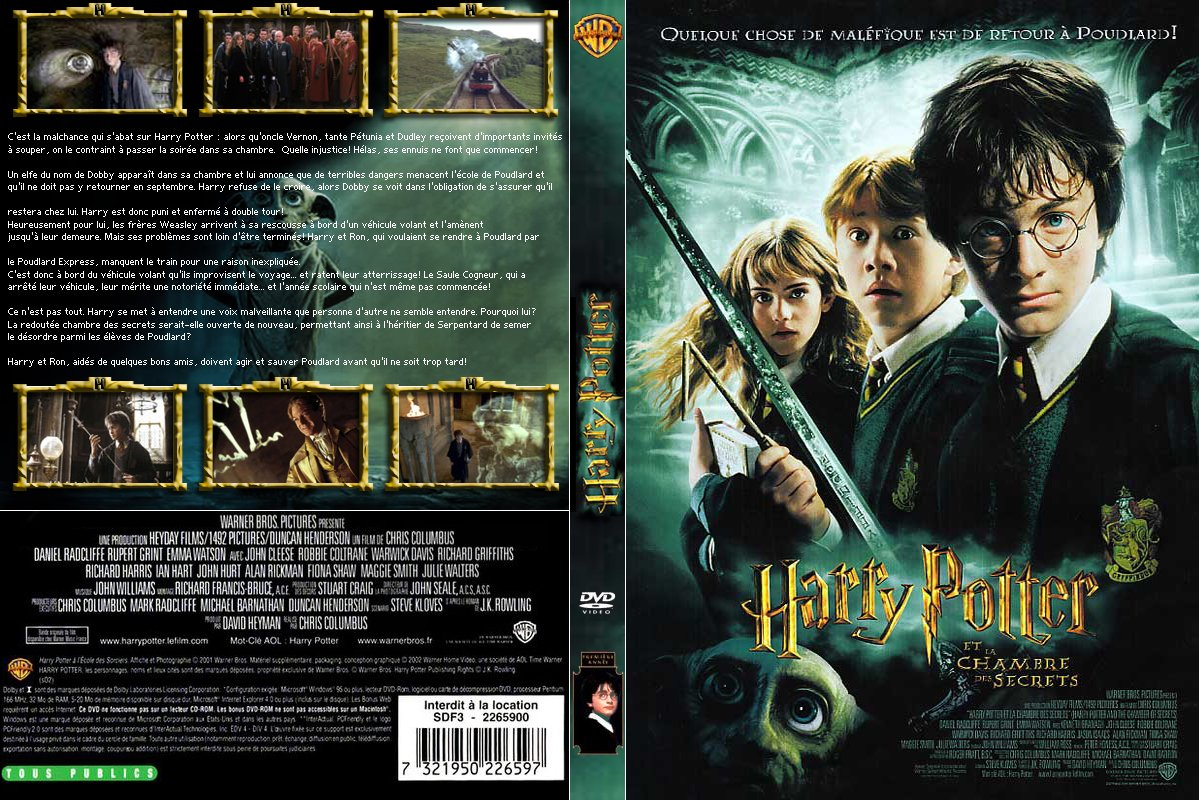 Mondo blu cover dvd film h divx vhs xdiv copertine - Film harry potter et la chambre des secrets ...