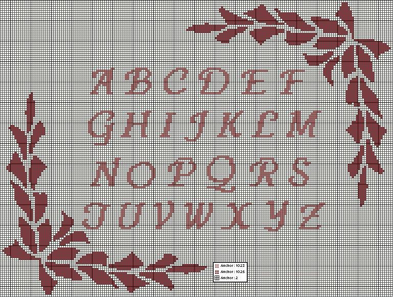 Punto Croce Alfabeti 5