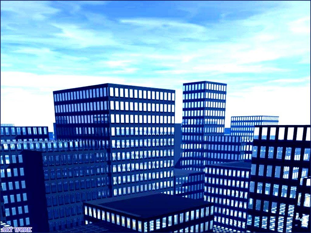Free wallpaper and screen saver sfondi gratis architettura for Architettura 3d
