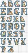 Schema alfabeto  Coniglietto blu