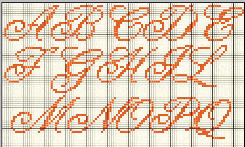 ricerche correlate a alfabeto punto croce per fiocco
