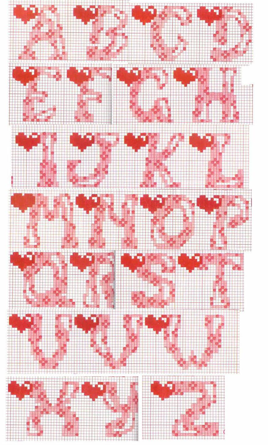 punto croce alfabeti On ricamo a punto croce lettere alfabeto