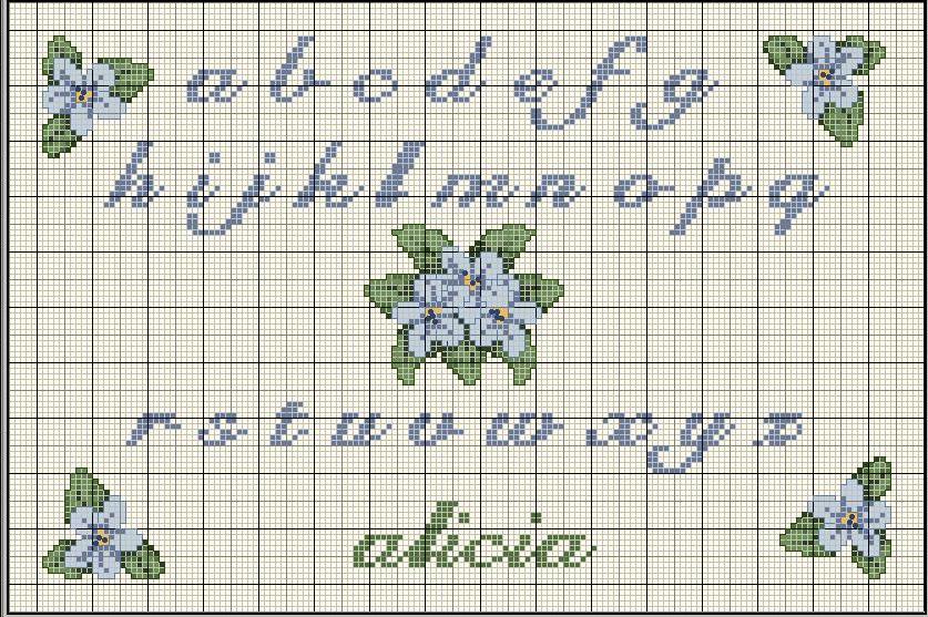 Punto croce alfabeti for Ricamo punto croce alfabeto
