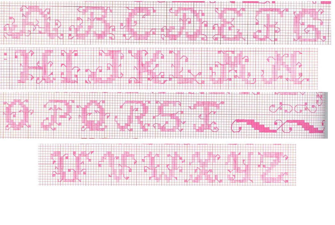 Alfabeti foglioline piccolo omini palloncino e arance for Schemi punto croce alfabeto bambini