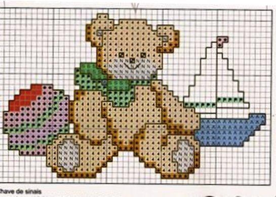 Schema punto croce baby orsetto for Schema punto croce orsetto